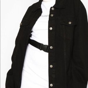 Boohoo black denim jacket